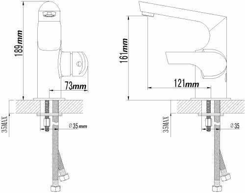 Sanlingo Designer Waschbecken Waschtisch Armatur Badarmatur Serie Mailand – Bild 2