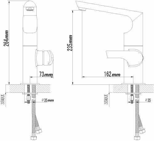 Sanlingo Designer Kitchen Sink Mixer Sanlingo Milan line – Bild 2