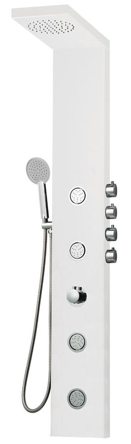 Aluminium Shower Column Shower Panel Rain Shower Massage Jets Mat White Sanlingo – Bild 1