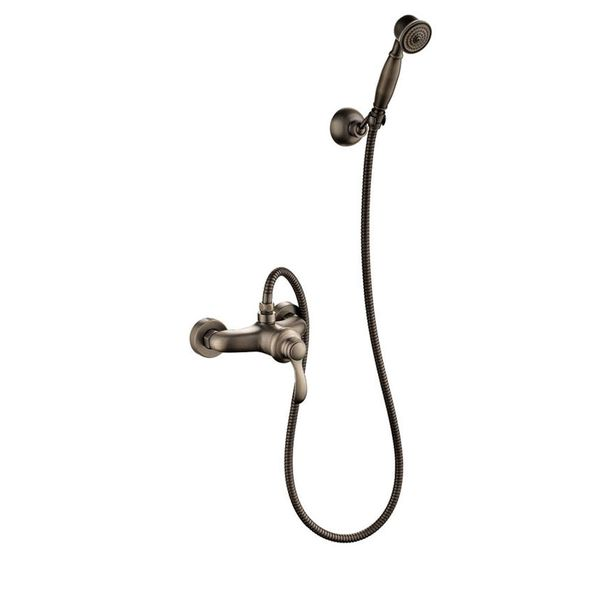 Retro Bath Shower Set Single Lever Water Tap Hand Shower Antique Brass Sanlingo – Bild 1