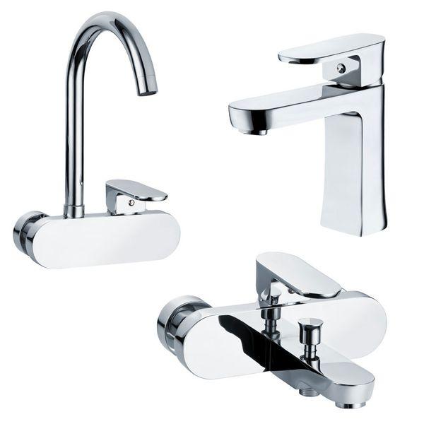 Sanlingo Modern Bathroom Wash Basin Sink Mono Tap Mixer Chrome SAFA Series – Bild 4