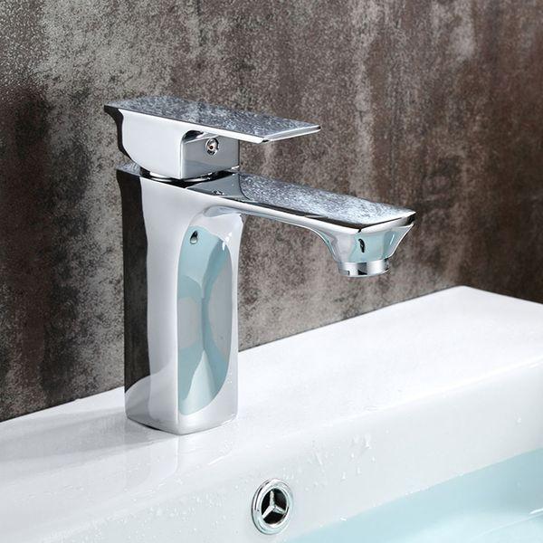 Sanlingo Waschbecken Waschtischarmatur Armatur Wasserhahn Mischbatterie Einhebelmischer Chrom Serie OLIS – Bild 2