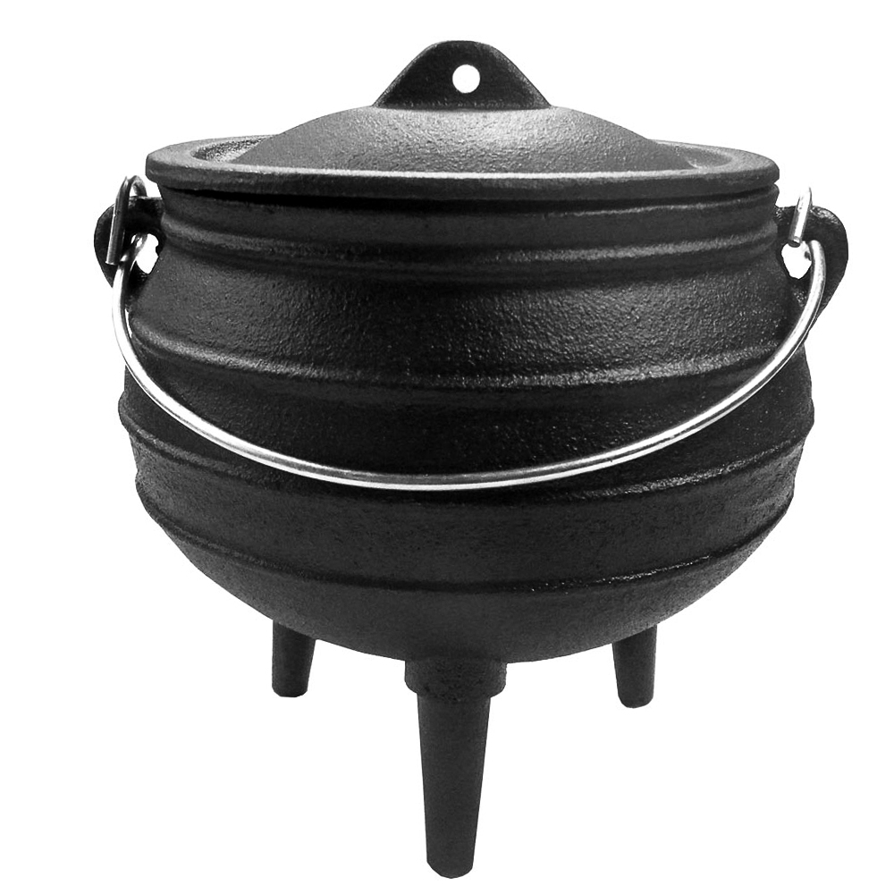 African Potjie Dutch Oven Cast Iron Cookware Stew Open Fire Camping Cooking Pot Grillmaster Ceres Webshop