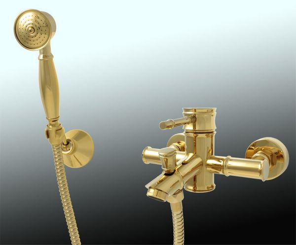 Bath Tub Faucet Mixer Retro Nostalgia Single lever Gold Sanlingo Serie Luis – Bild 3
