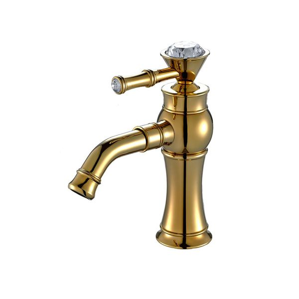 Sanlingo Extraordinary Bathroom Single Lever Water Tap Glass Crystal Gold – Bild 1