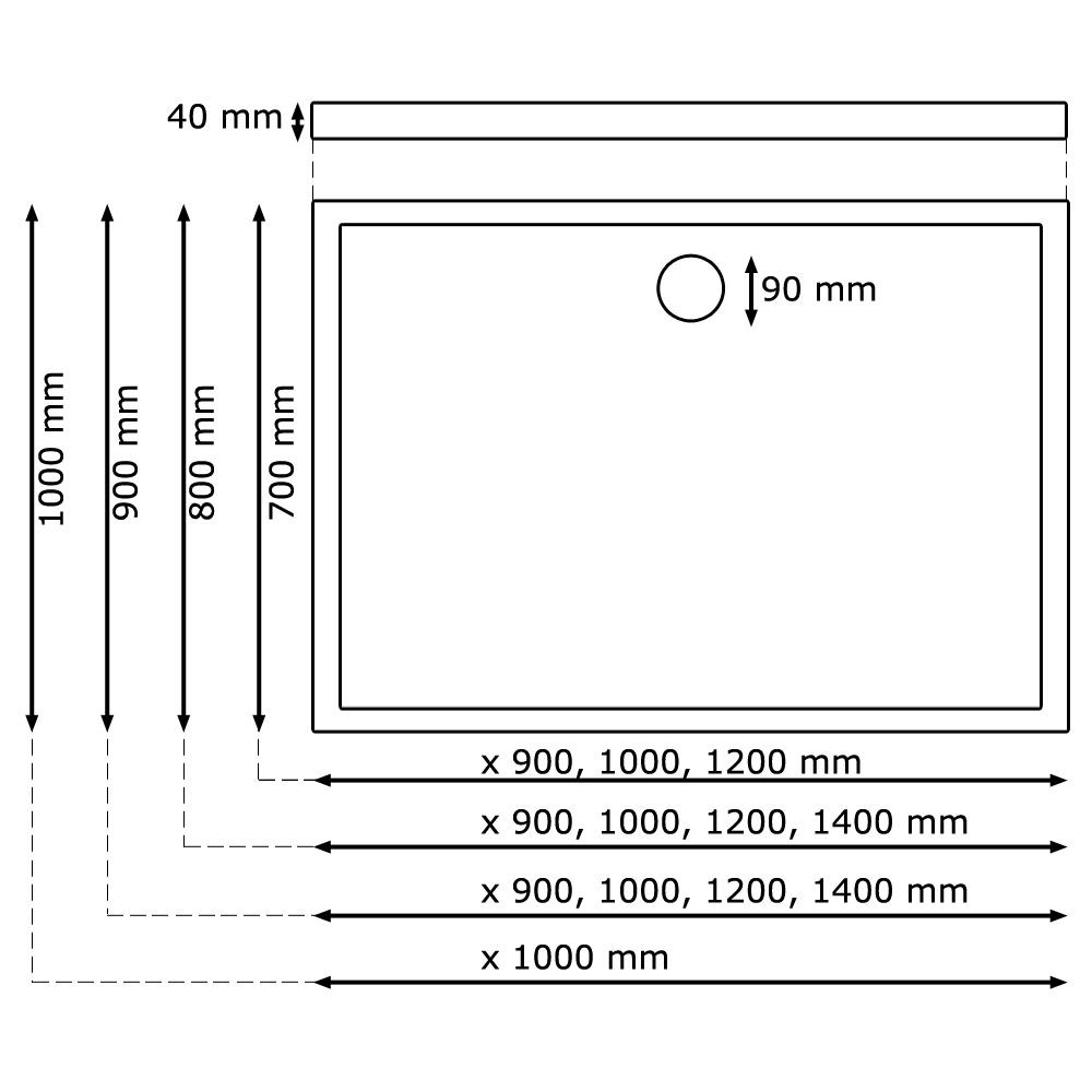 4 cm duschtasse duschwanne gr enwahl brausewanne ablaufgarnitur acryl sanlingo ebay. Black Bedroom Furniture Sets. Home Design Ideas