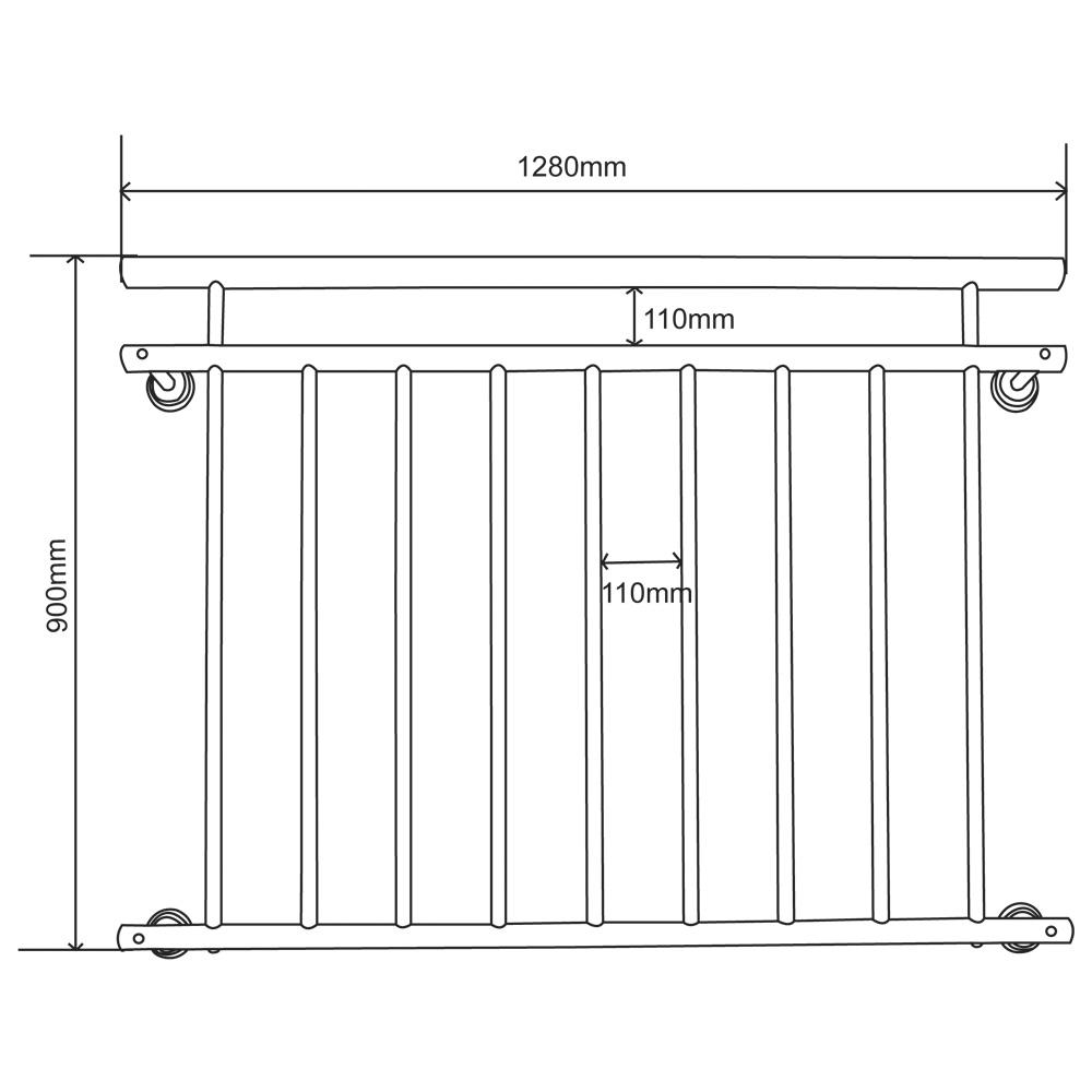 V2aox Franzosischer Balkon Gelander Balkongelander 90 X 100 156 Cm