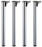 Stahl 4er Set Tischbeine Möbelfuß Höhenverstellbar Klappbar V2AoxØ 50 mm 1100 mm 001