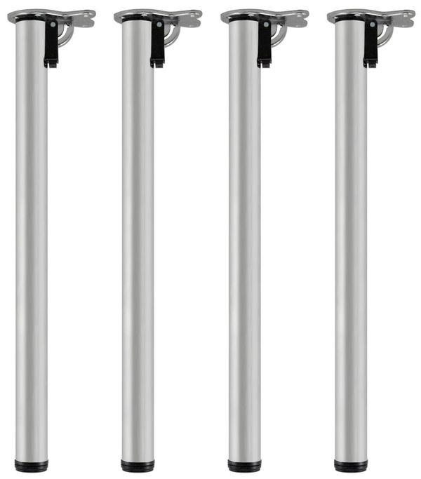 Stahl 4er Set Tischbeine Möbelfuß Höhenverstellbar Klappbar Ø 50 mm1100 mm V2Aox