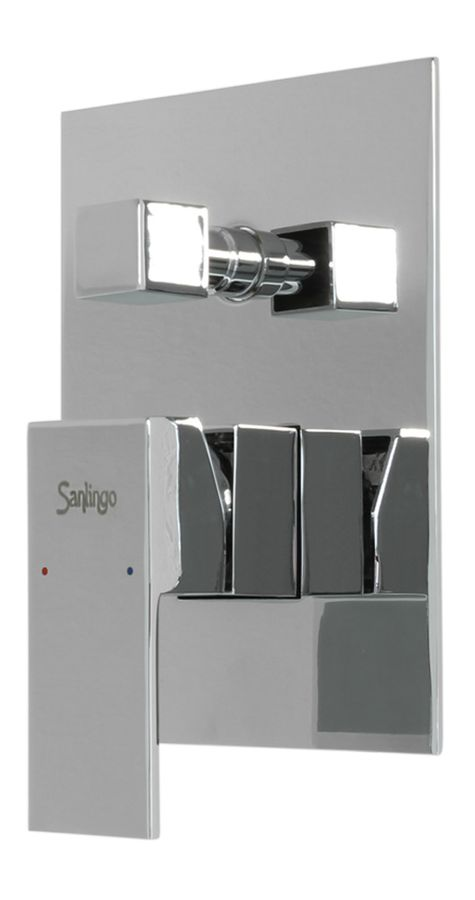 Complete Set for Bathtub Concealed Diverter Tap Chrome Sanlingo – Bild 3