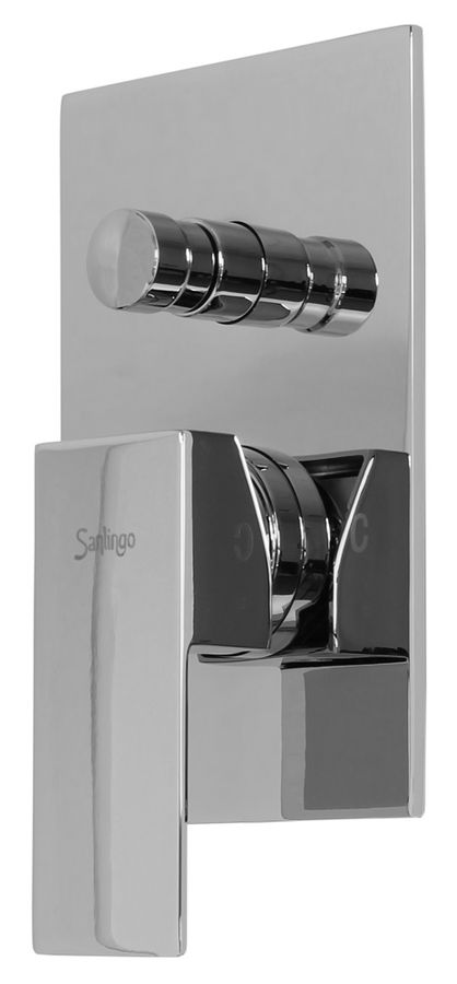 Chrome Complete Set Bathtub Concealed Diverter Fitting Box Tap Sanlingo Angled – Bild 4
