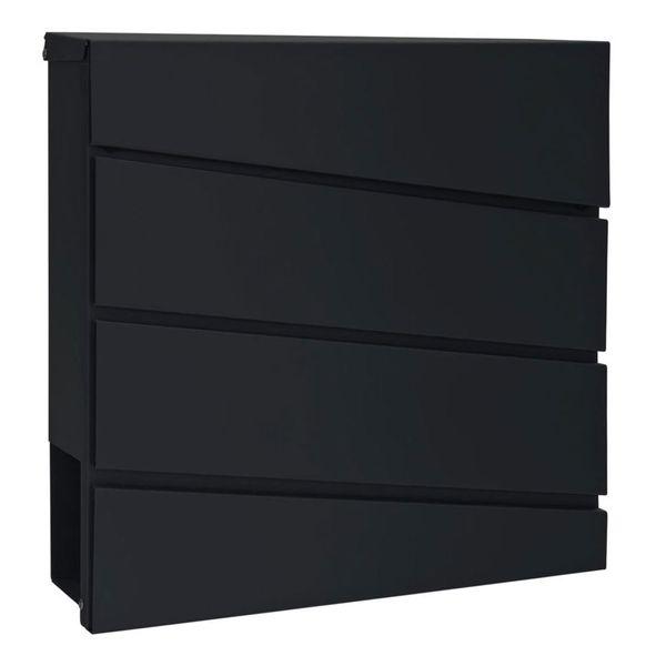Modern Postkasten Wandbriefkasten Briefkasten V2Aox Edelstahl Zeitungsfach Zeitungsrolle