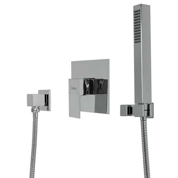 Chrome Bath Bathroom Set Hand shower Concealed Diverter Tap Hose Sanlingo Angled – Bild 2