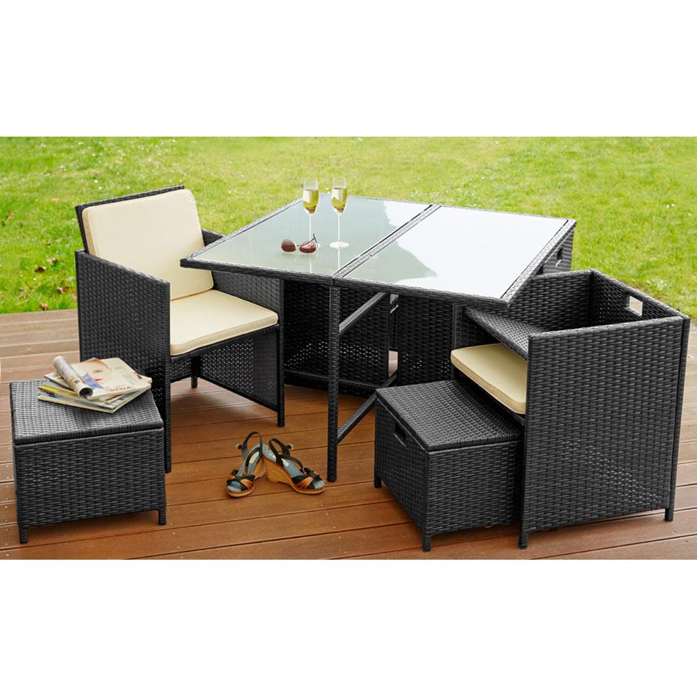Paket Poly Rattan Sitzgarnitur Sitzgruppe Gartenmöbel Garten 4