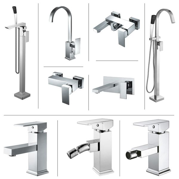 Design Single lever Faucet Bath Tub Chrome High Gloss Sanlingo Manchester – Bild 4