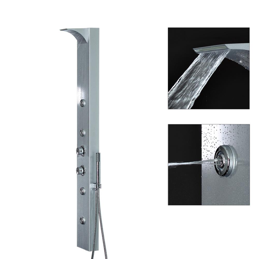 Sanlingo columna ducha aluminio cascada ducha termostato for Ducha cascada