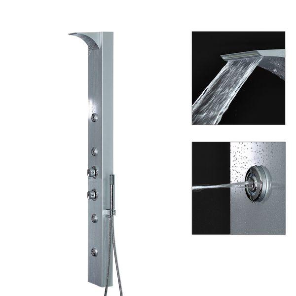 Aluminium Shower Column Shower Panel Waterfall Rainshower Thermostat Different Colors Sanlingo – Bild 5