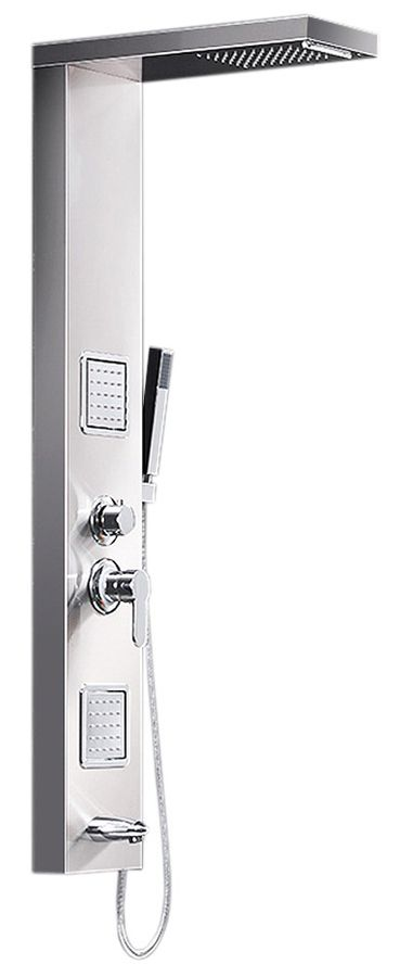 Stainless Steel Brushed Nickel Shower Column Panel Rain Shower Massage Waterfall Sanlingo – Bild 1
