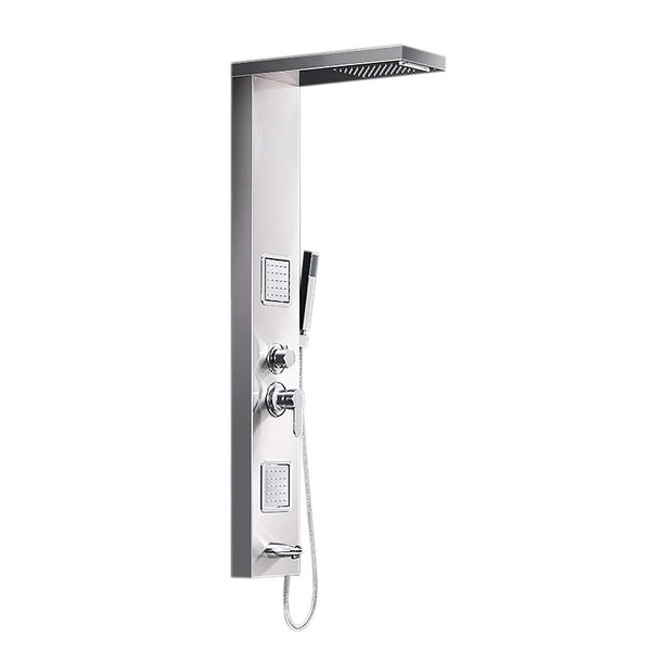 Stainless Steel Brushed Nickel Shower Column Panel Rain Shower Massage Waterfall Sanlingo – Bild 3