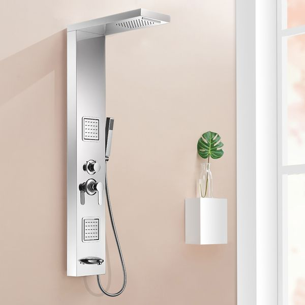 Shower Column Panel Rain Shower Massage Waterfall Stainless Steel Sanlingo – Bild 2