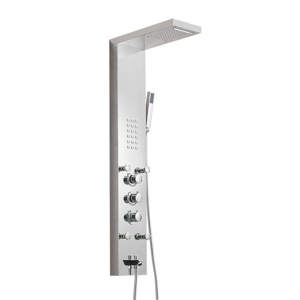 Stainless Steel Column Shower Panel Waterfall Rain Shower Massage Sanlingo – Bild 3