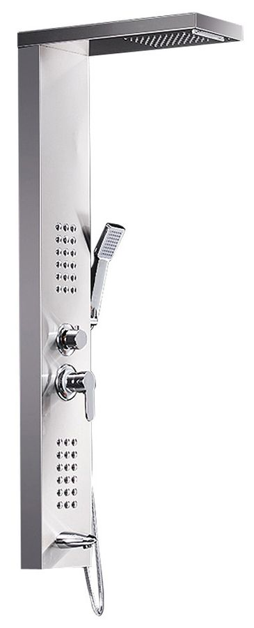 Brushed Stainless Steel Shower Column Panel Rain Shower Massage Waterfall Sanlingo – Bild 1