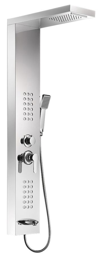 Stainless Steel Shower Column Panel Waterfall Rain Shower Massage Sanlingo – Bild 1