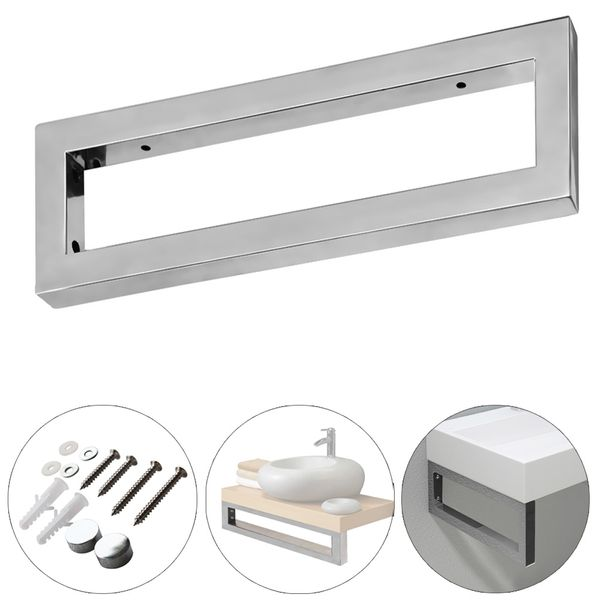 Stainless Steel Wall Holder Support Bracket Countertop Washbasin 450 x 150 mm Sanlingo – Bild 3