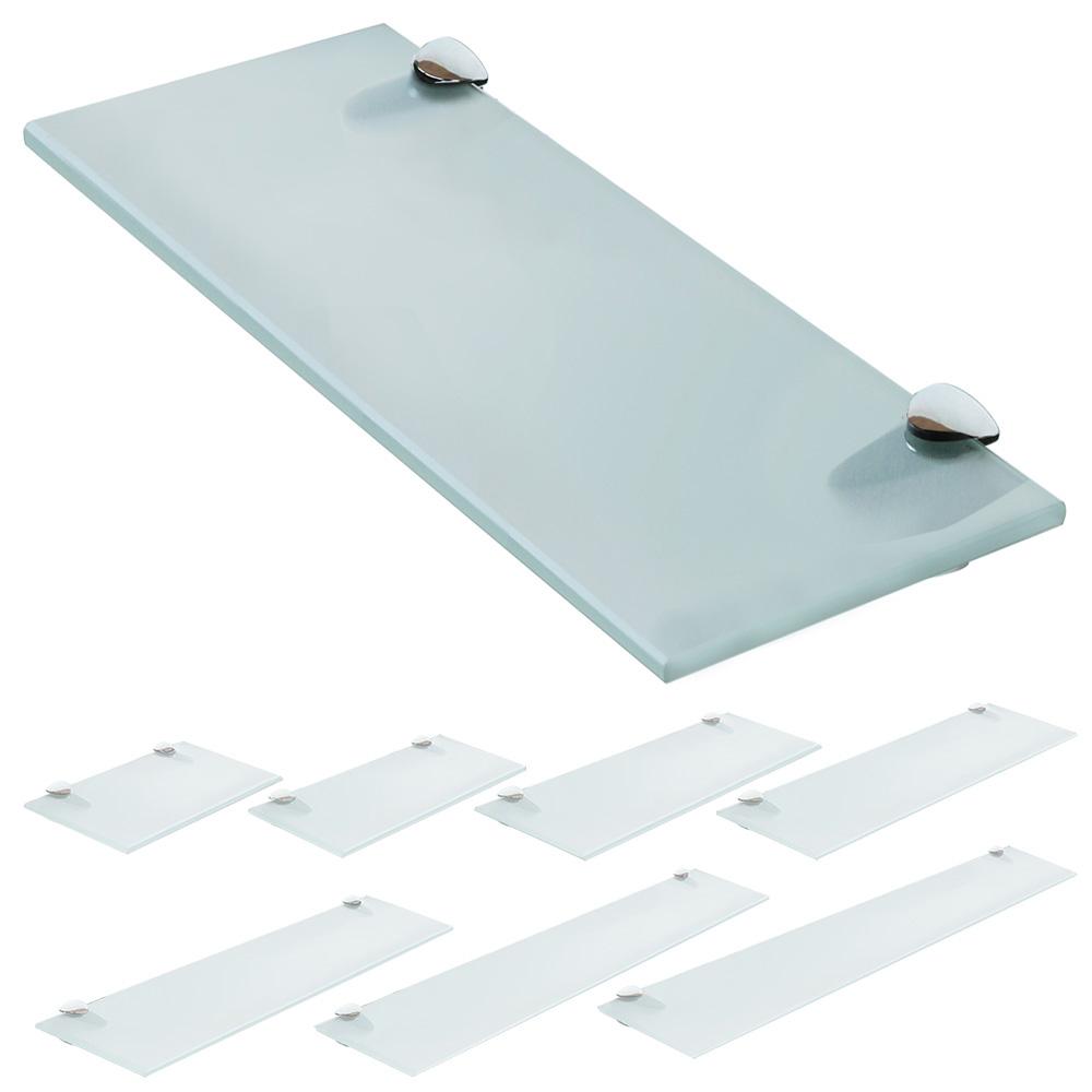 Mensola-in-vetro-Mensola-Scaffale-da-bagno-Vetro-trasparente-smerigliato-V2Aox
