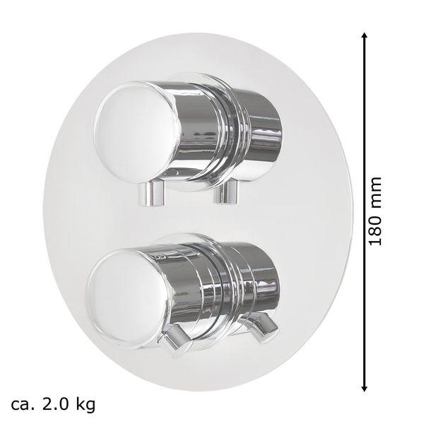 Duschset komplett Thermostat Unterputz Umsteller 2 Wege Rund Edelstahl Chrom Sanlingo – Bild 7