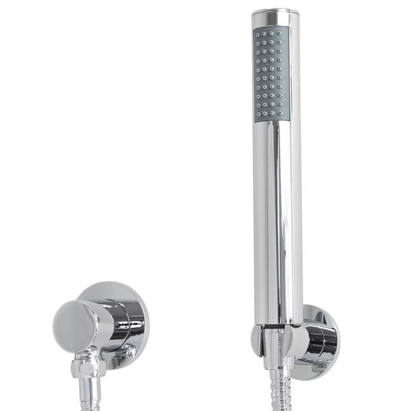 Shower Set Thermostat Rain Hand Shower Diverter 2 Way Round Stainless Steel Chrome Sanlingo – Bild 5