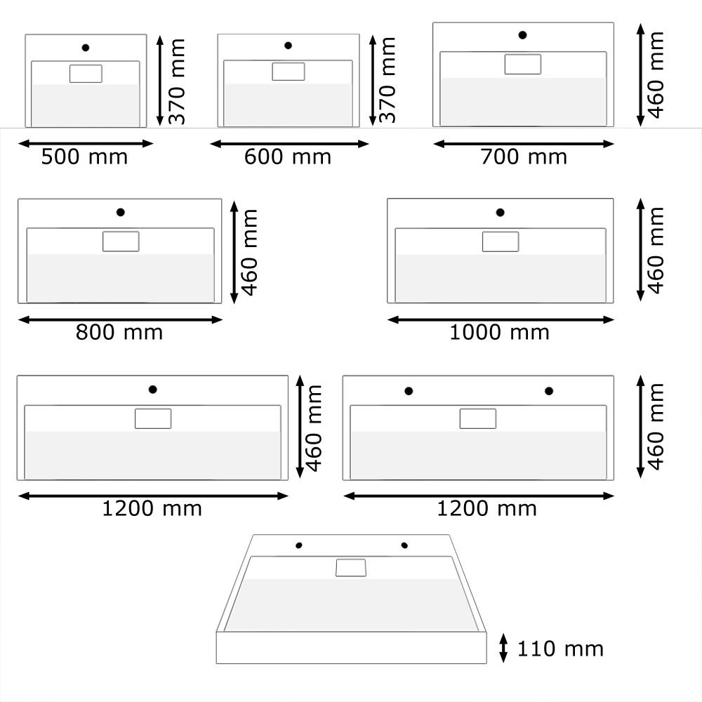 design waschtisch waschbecken gussmarmor eckig wei versch gr en sanlingo ebay. Black Bedroom Furniture Sets. Home Design Ideas