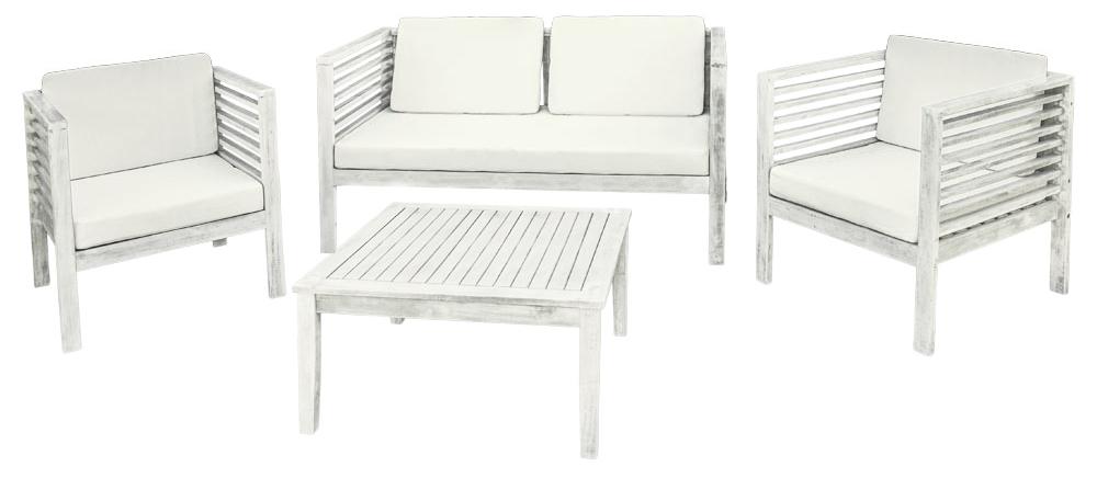 Holz Gartenmöbel Sitzmöbel Sitzgruppe Sitzgarnitur Gartenset Tisch 1