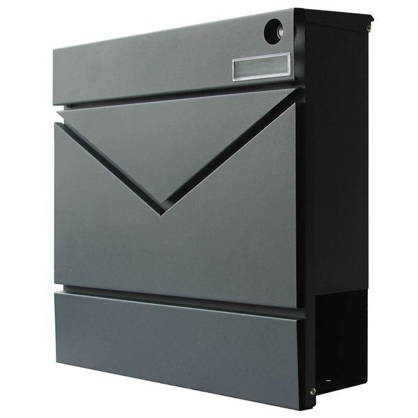 Briefkasten Wandbriefkasten Postkasten Zeitungsrolle Zeitungsfach Taster Klingel V2Aox