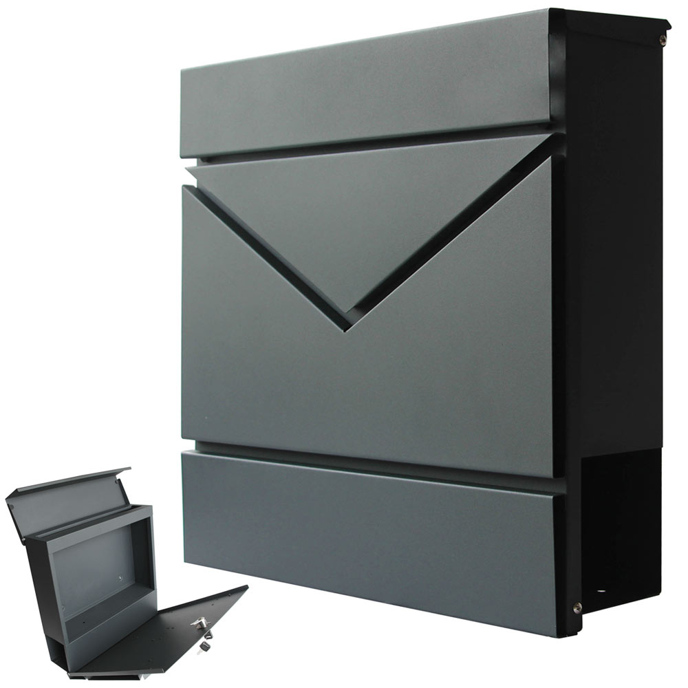 modern briefkasten wandbriefkasten postkasten. Black Bedroom Furniture Sets. Home Design Ideas