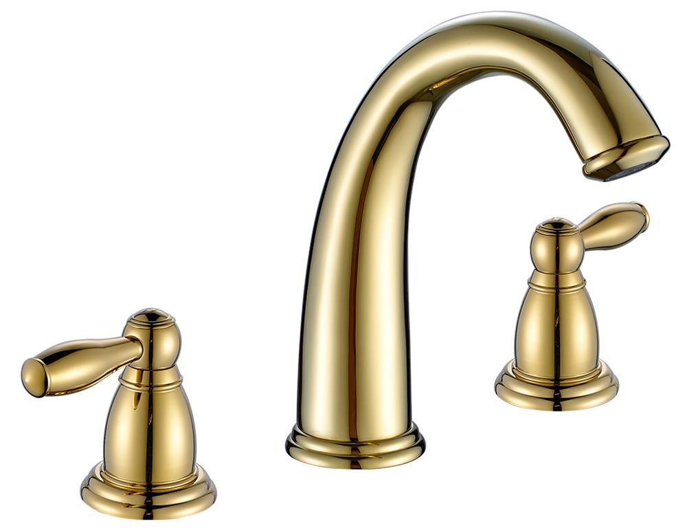 Sanlingo Retro Nostalgie 3 Loch Armatur Waschbecken Waschtisch Gold
