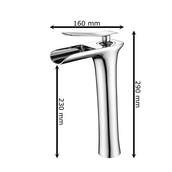 Sanlingo Bath Wash Basin Bowl Sink Mono Tap Mixer Chrome – Bild 4