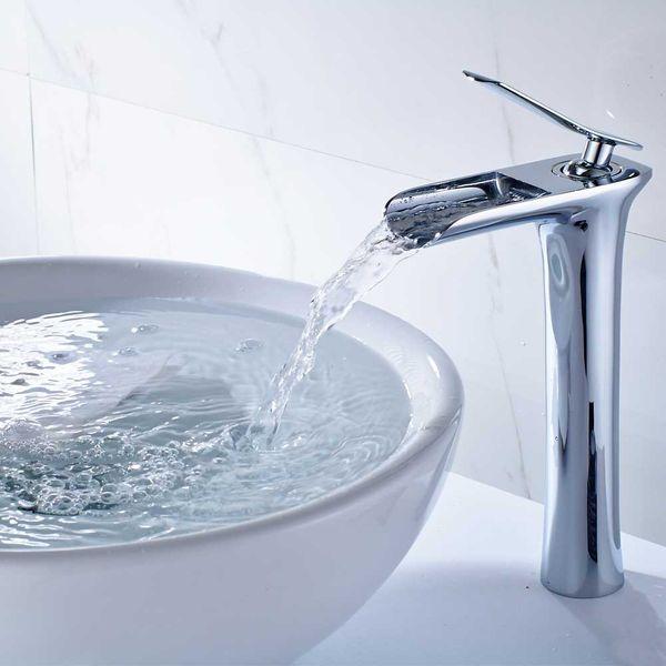 Sanlingo Waschtischarmatur Waschbecken Wasserhahn Waschschale Armatur Mischbatterie Einhebelmischer Chrom – Bild 2