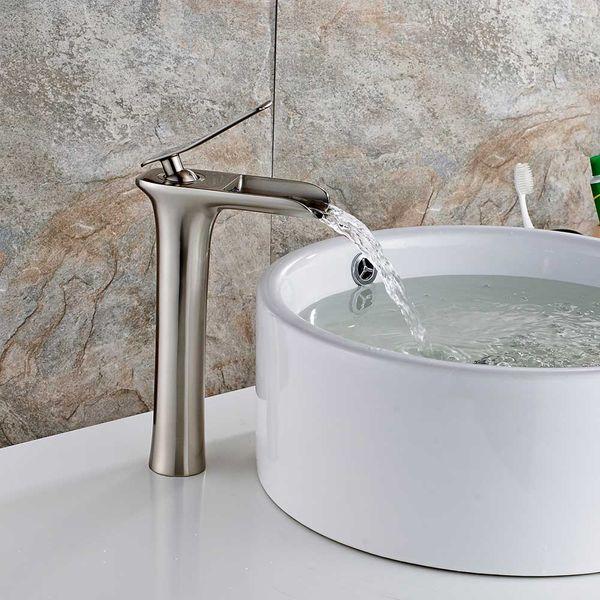 Sanlingo Waschbecken Waschtischarmatur Wasserhahn Waschschale Armatur Einhebelmischer Mischbatterie Edelstahl Optik – Bild 2