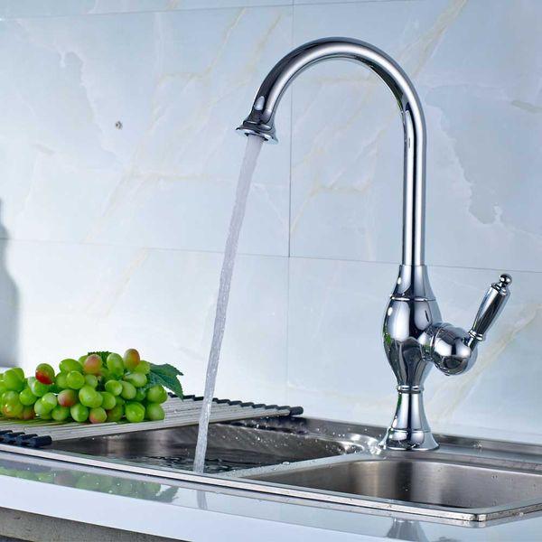 Sanlingo Retro Kitchen Mono Tap Sink Mixer Chrome Swivel Spout – Bild 2
