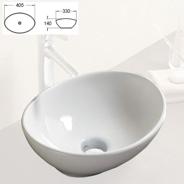 Modern Hand Wash Counter Top Vanity Wash Basin Bowl Sink Bathroom Cloakroom Nano Lotus Sanlingo – Bild 2
