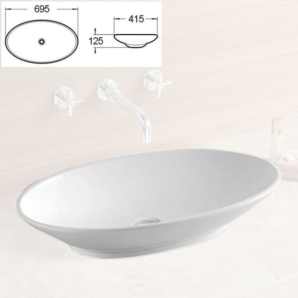 Modern Hand Wash Counter Top Vanity Wash Basin Bowl Sink Bathroom Cloakroom Nano Lotus Sanlingo – Bild 5