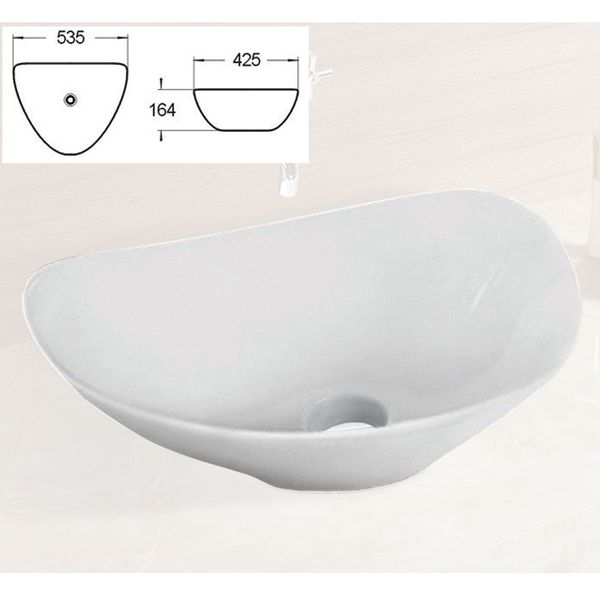 Modern Hand Wash Counter Top Vanity Wash Basin Bowl Sink Bathroom Cloakroom Nano Lotus Sanlingo – Bild 7