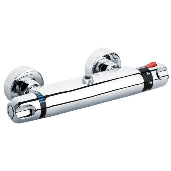 Design Shower Thermostat Thermostatic Water Tap Bathroom Chrome Sanlingo – Bild 1