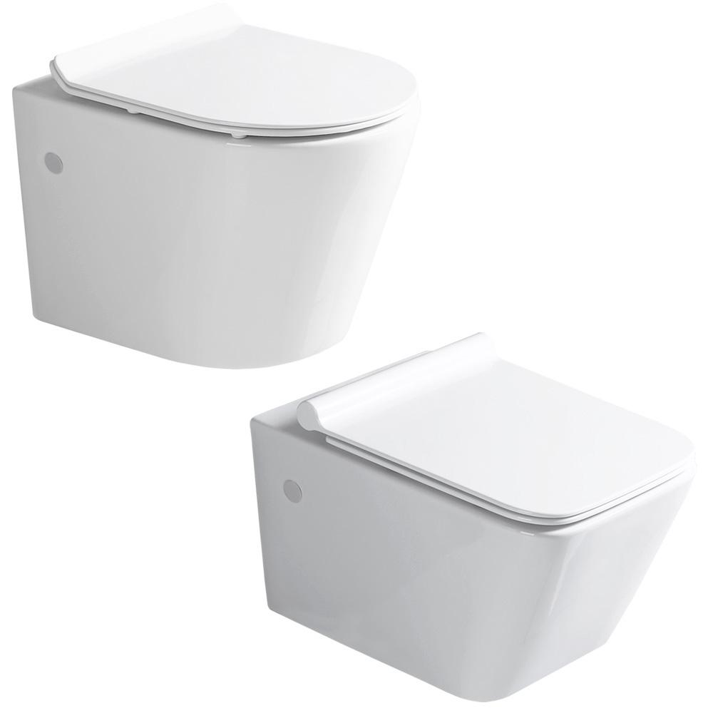 sanlingo keramik wand h nge wc toilette sp lrandlos. Black Bedroom Furniture Sets. Home Design Ideas
