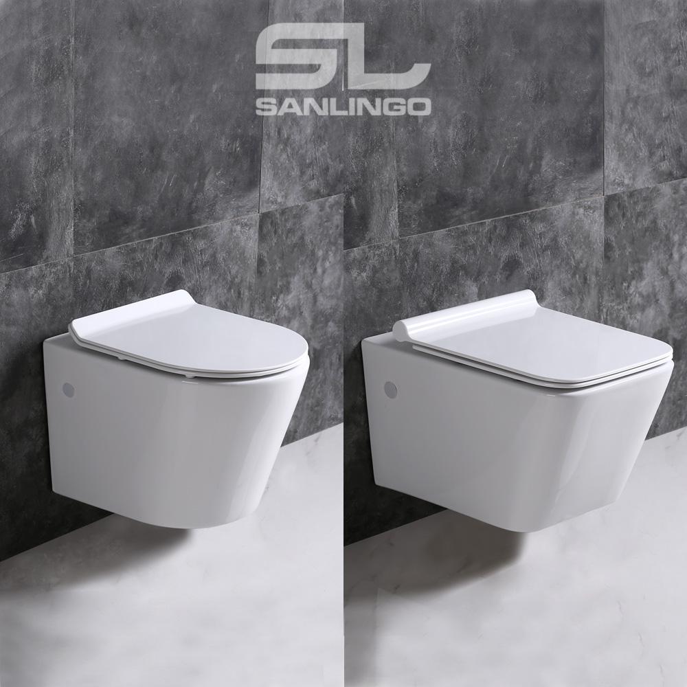 sanlingo keramik wand h nge wc toilette sp lrandlos softclose wei tiefsp ler lotuseffekt wc. Black Bedroom Furniture Sets. Home Design Ideas
