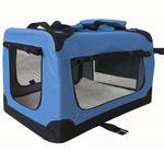Petigi Faltbare Transportbox Hund Faltbox Transporttasche Hundetransportbox Katze Auto Blau Größe XXL 001