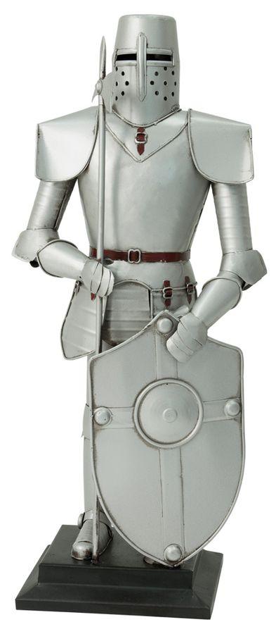 Dekoration Dekofigur Ritterrüstung Ritter mit Schwert und Schild 45 cm Ritterheim