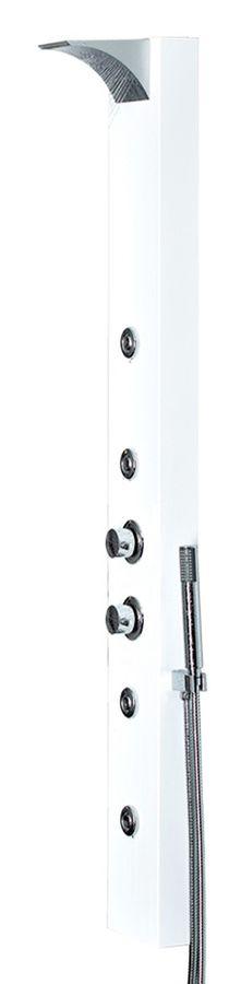 Aluminium Duschpaneel Regendusche Massage Wasserfall Thermostat Weiß Sanlingo – Bild 1