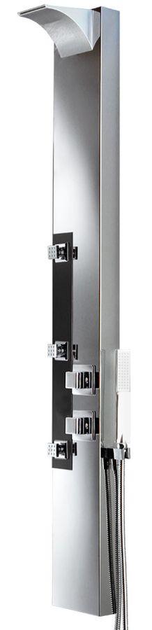 Stainless Steel Shower Column Panel Rain Shower Waterfall Massage Thermostat Sanlingo – Bild 1